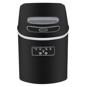 Nice Compact Portable Ice Maker In Metallic Black
