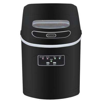 27 lb. Compact Portable Ice Maker in Metallic Black