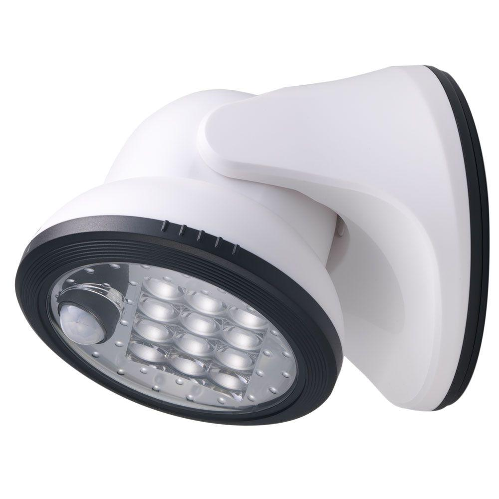 separation shoes ee06e 424ee Light It! White 12-LED Wireless Motion-Activated Weatherproof Porch Light