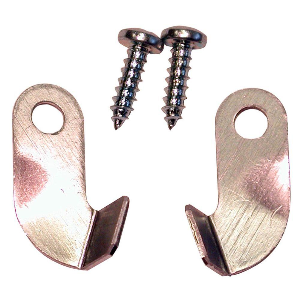 Aluminum Swivel Clips For Window Screens (3 Pairs per Card)