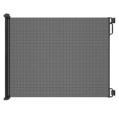 41 in. H Extra-Tall and Extra-Wide Outdoor Retractable Gate in Black