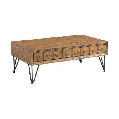 Tanner Light Walnut Transitional Coffee Table