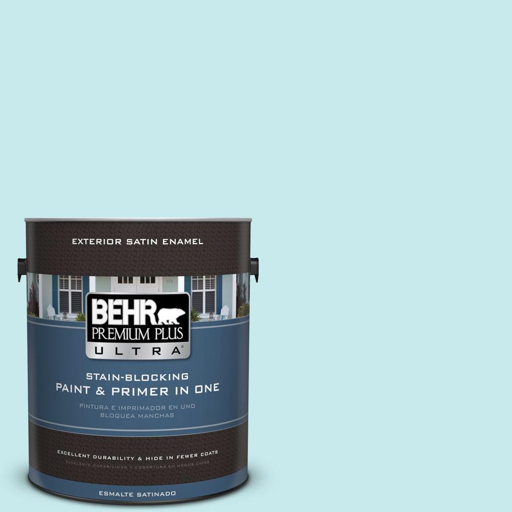 BEHR Premium Plus Ultra 1-gal. #P460-1 Morning Sky Satin Enamel Exterior Paint