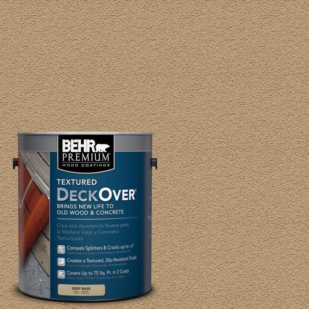 BEHR Premium Textured DeckOver 1 gal SC 145 Desert Sand Textured