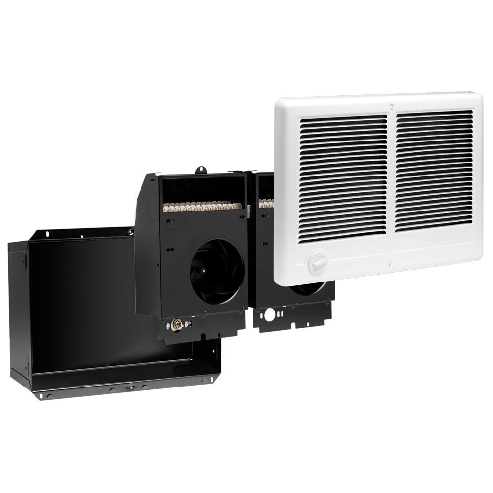 Cadet Com-Pak Twin 4,000-Watt 240-Volt Fan-Forced In-Wall Electric Heater in White by Cadet