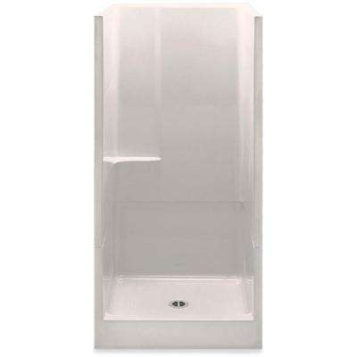 Remodeline 36 in. x 36 in. x 72 in. 2-Piece Shower Stall with Center Drain in Biscuit