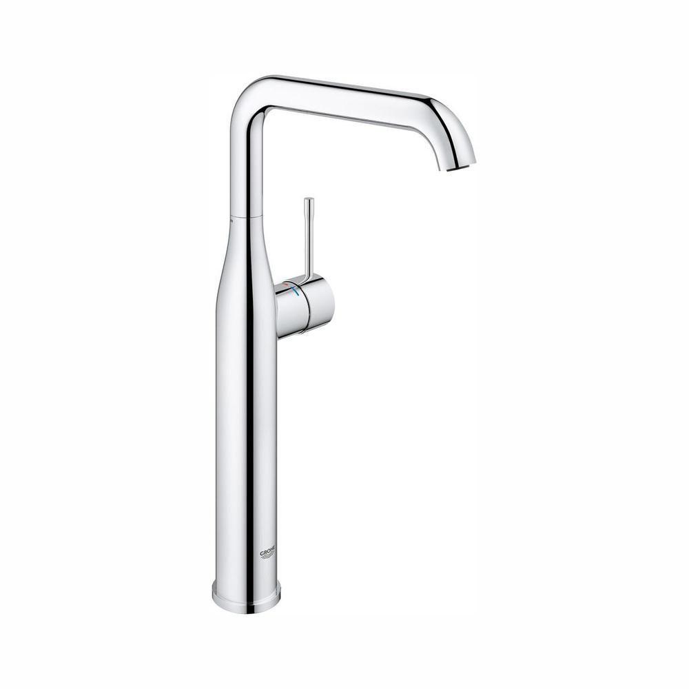 GROHE GROHE Essence New Single Hole Single-Handle Bathroom Faucet in StarLight Chrome