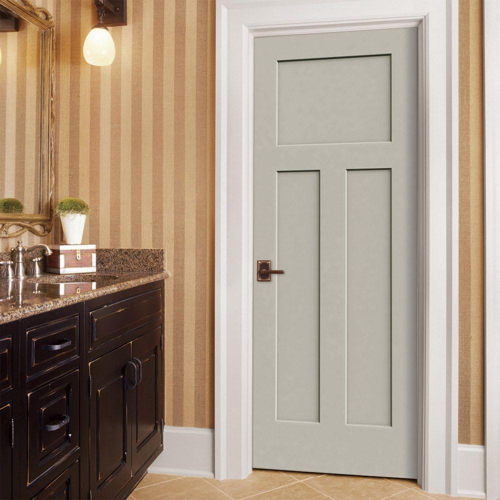 30 in. x 80 in. Craftsman Desert Sand Painted Smooth Molded Composite MDF Interior Door Slab