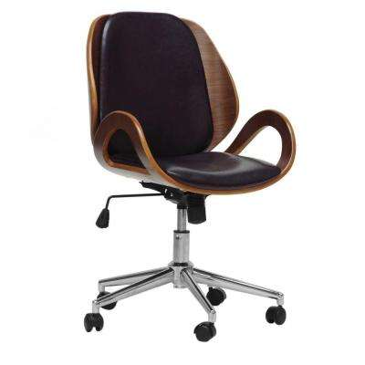 Watson Black Faux Leather Office Chair