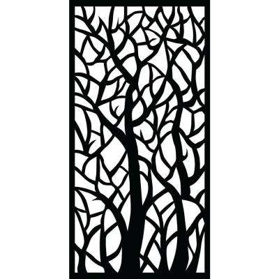 0.3 in. x 71 in. x 2.95 ft. Woodland Recycled Plastic Charcoal Decorative Screen (5-Piece per Bundle)