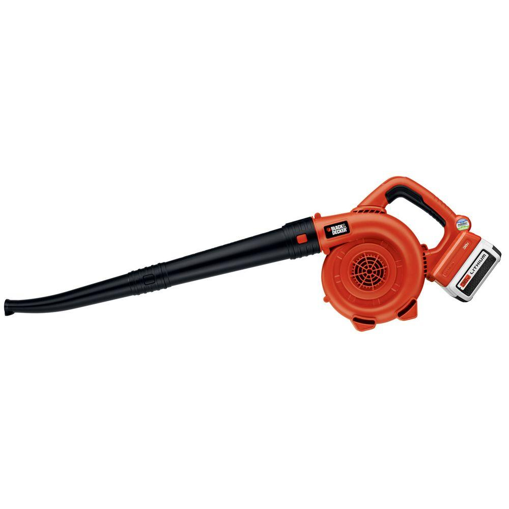 120 MPH 90 CFM 40-Volt MAX Lithium-Ion Cordless Handheld Leaf Sweeper