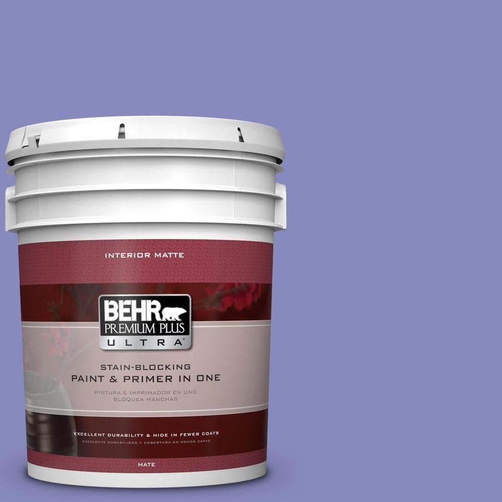 5 gal. #620B-5 Pristine Petal Matte Interior Paint and Primer in