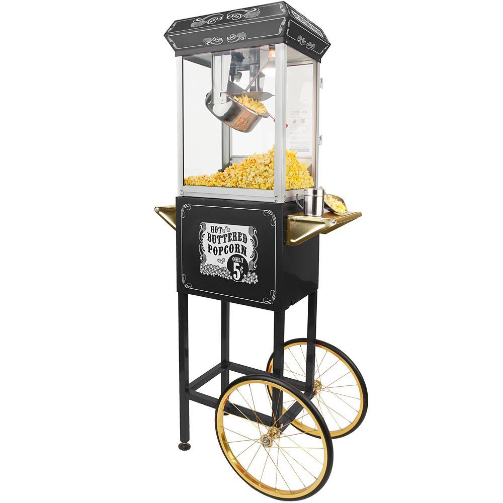 Sideshow Popper 8 oz. Popcorn Machine and Cart