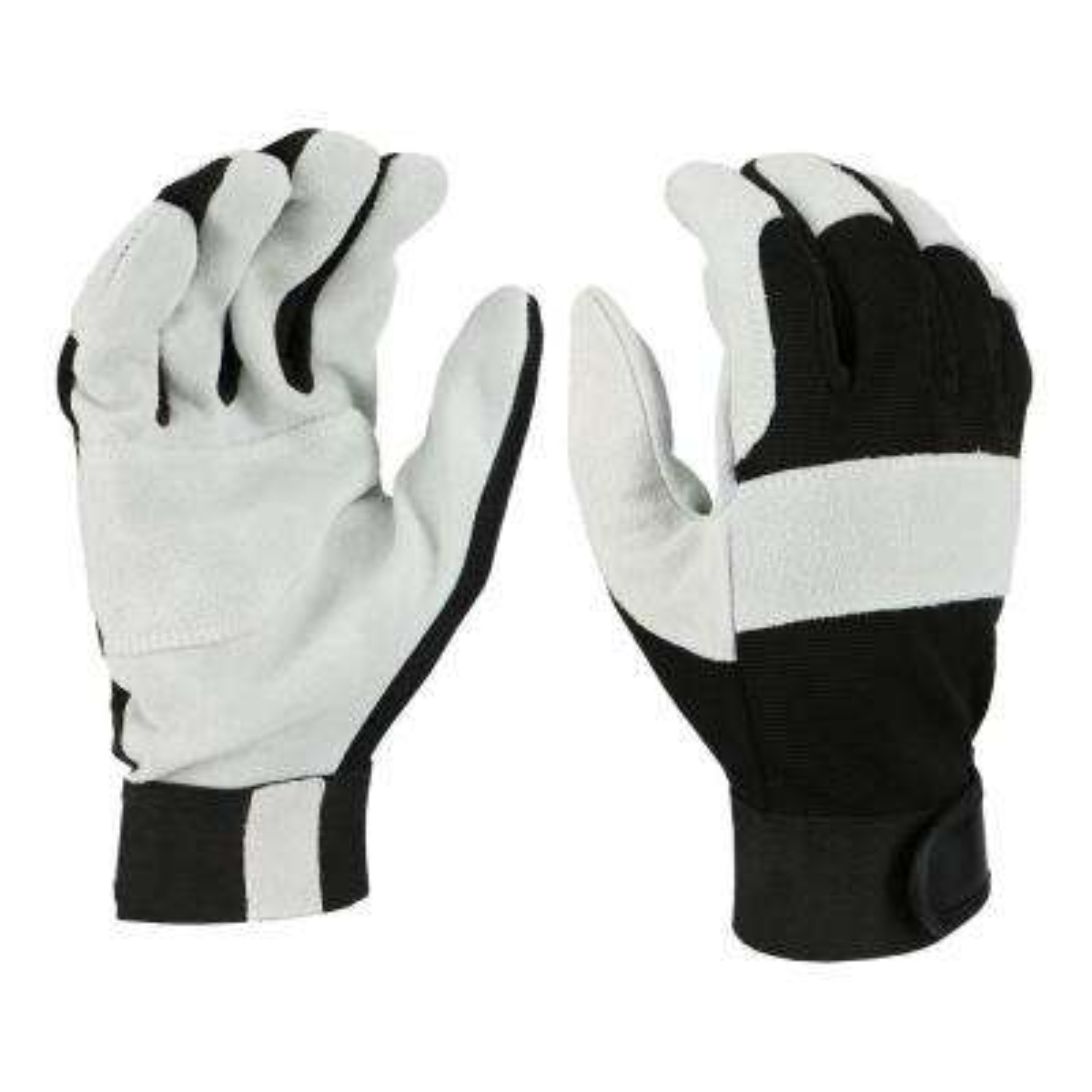 Men's Large Split Cowhide Leather Drive Gloves