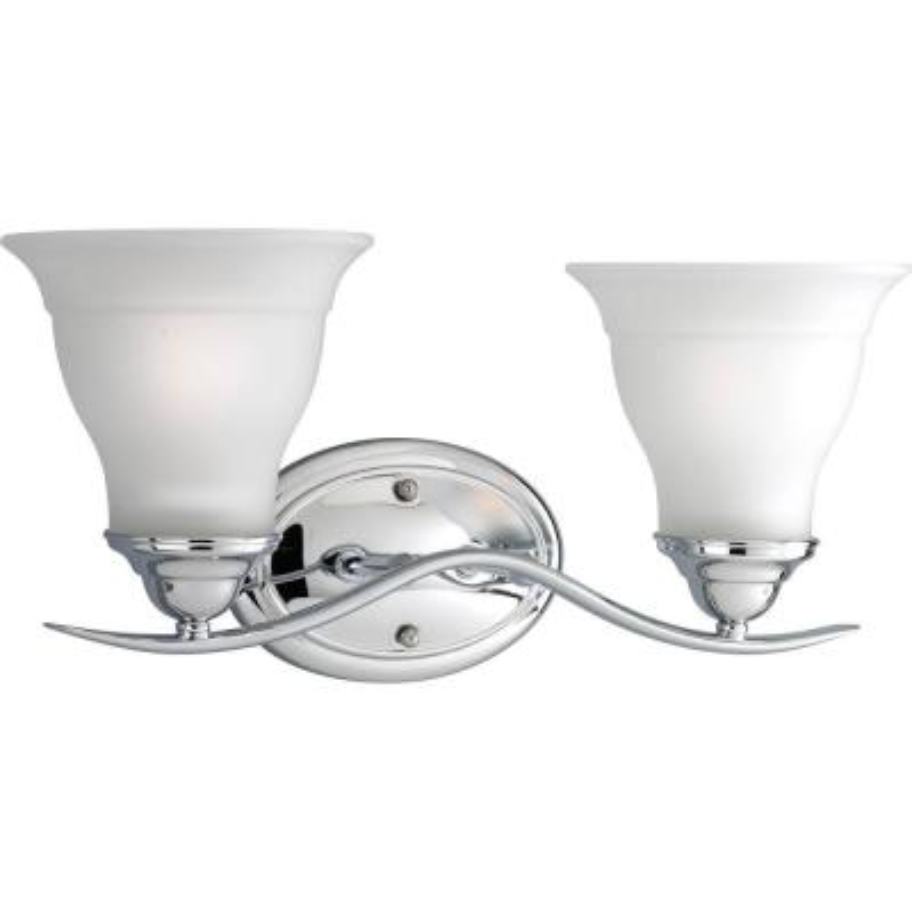 Trinity 2-Light Chrome Bath Light