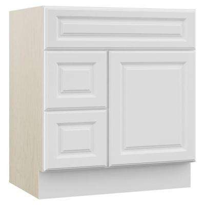 Cambridge 30 in. W x 21.5 in. D x 33.5 in. H Bath Vanity Cabinet Only with Drawers on Left in White