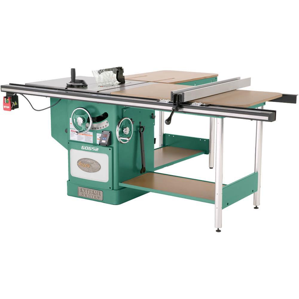 10 in. 5 HP 3-Phase Heavy-Duty Cabinet Table Saw with Ri-Volting
