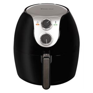 Premium 5.6 Qt. XL BPA FREE Compact Countertop Manual Air Fryer with Dishwasher Safe Basket and Free Recipe Book - Black