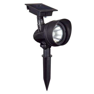 Solar Powered Black Outdoor LED Spot Light (6-Pack)
