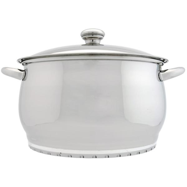 BergHOFF Zeno 7 Qt. 18/10 Stainless Steel Stock Pot with Lid