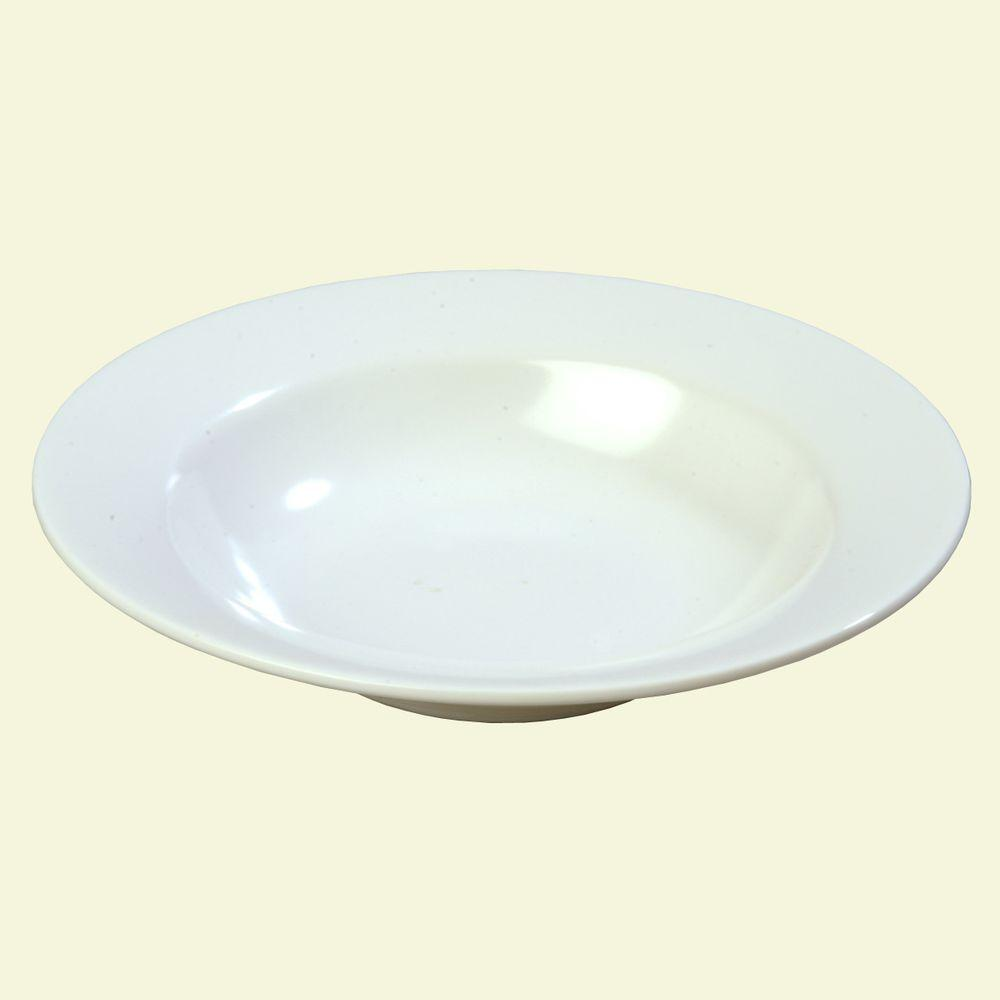 8.0 oz., 7.75 in. Diameter Melamine Wide Rimmed Salad Bowl in