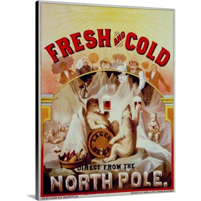 """""""Fresh and Cold--Direct from the North Pole"""" by Print Collection Canvas Wall Art"""
