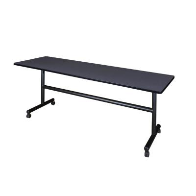 Kobe Grey 84 in. W x 24 in. D Flip Top Mobile Training Table