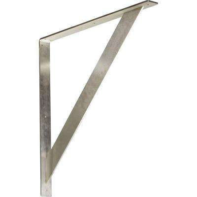 24 in. x 2 in. x 24 in. Steel Unfinished Metal Traditional Bracket
