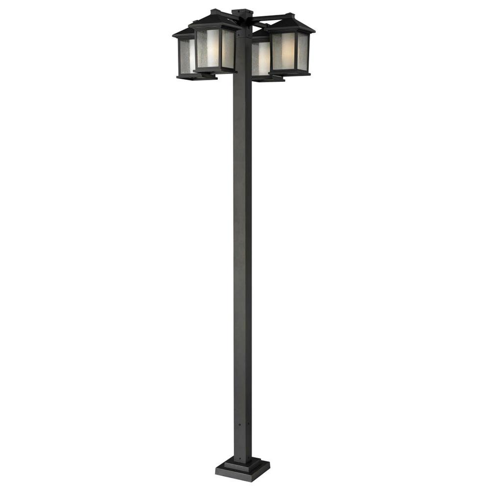 Lawrence 4-Light Oil-Rubbed Bronze Incandescent Outdoor Post Light