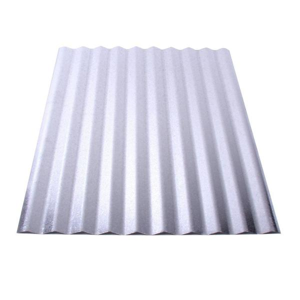 Fabral 10 Ft Galvanized Steel Corrugated Roof Panel 4736052000 The Home Depot
