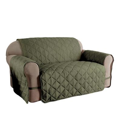 Microfiber Ultimate Solid Sage Sofa Protector