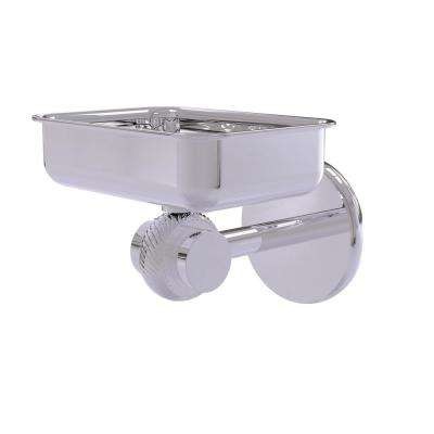 Satellite Orbit 2-Collection Wall Mounted Soap Dish with Twisted Accents in Polished Chrome
