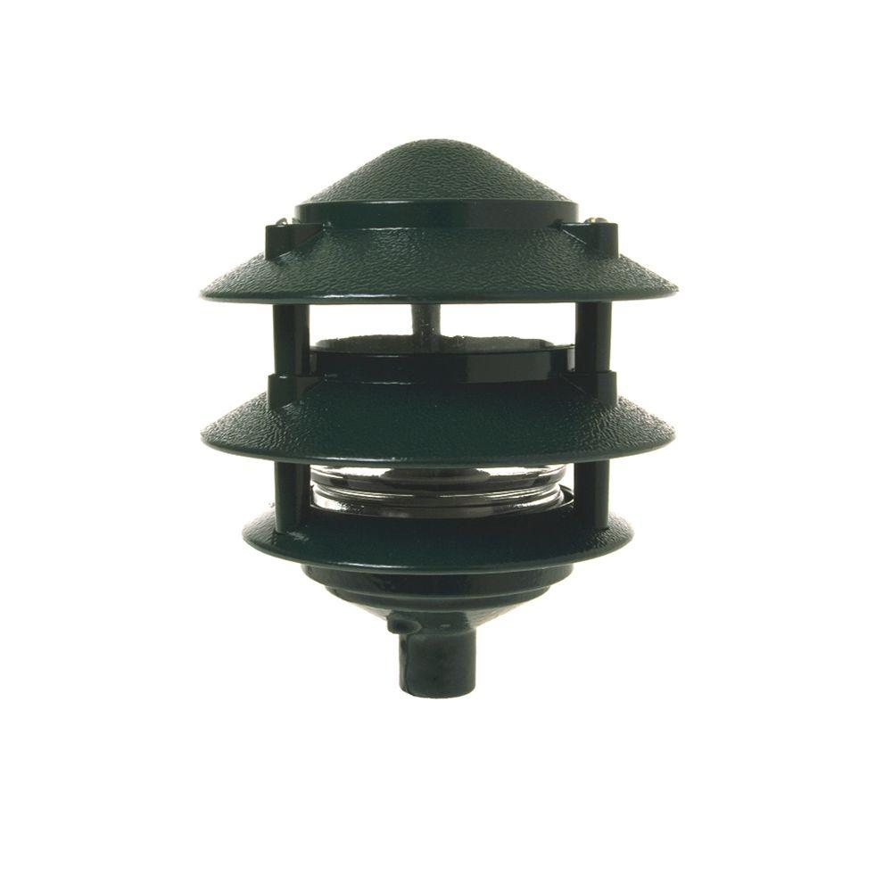 Porch Light Green: BELL 3-Tier Green Outdoor Landscape Path Light-5884-8