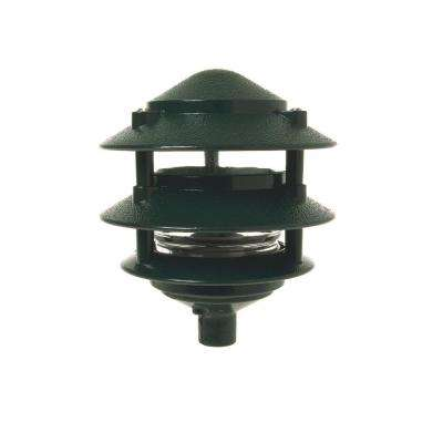 3-Tier Green Outdoor Landscape Path Light