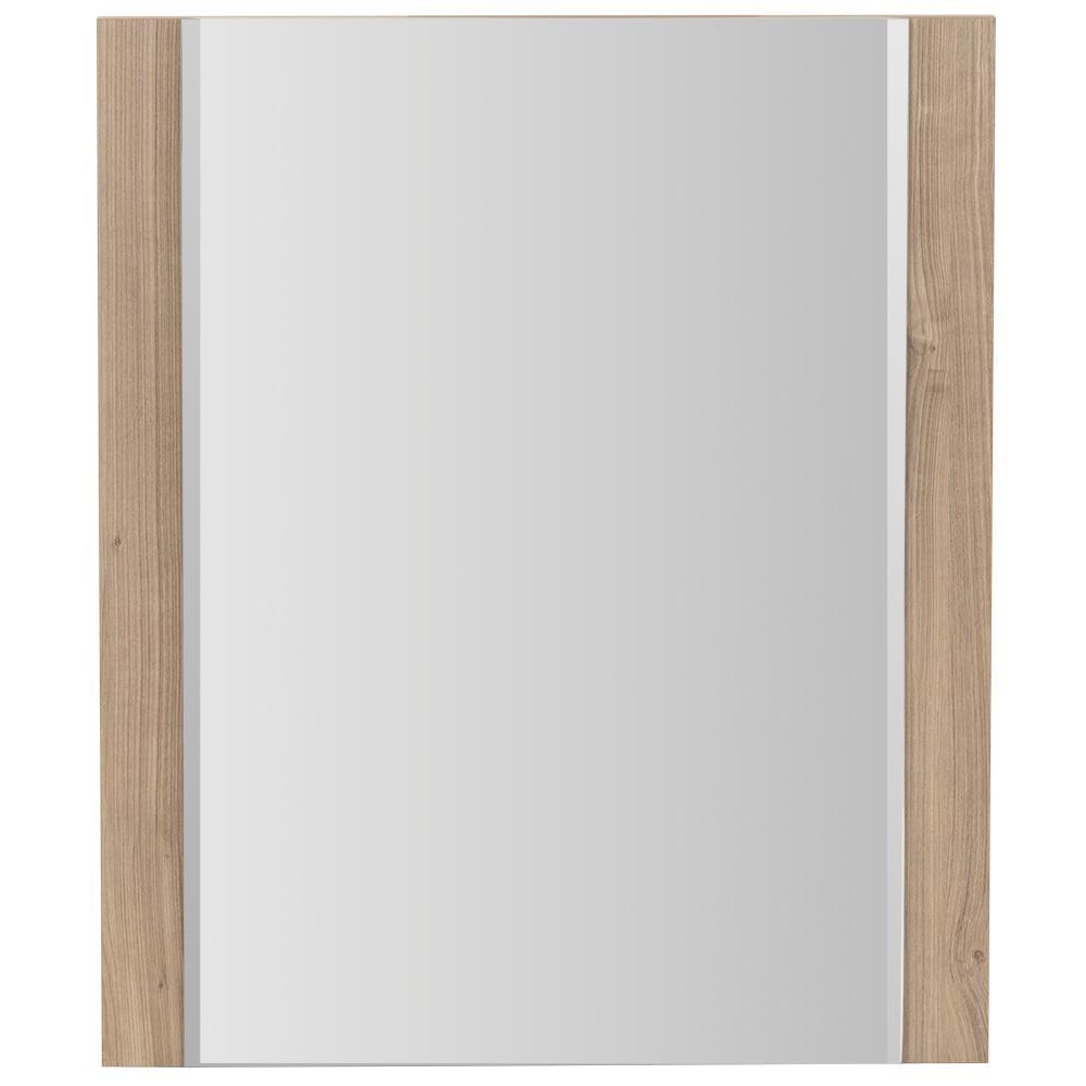 Jayli 20 in. W x 24 in. H Framed Wall Mirror in Forest Elm
