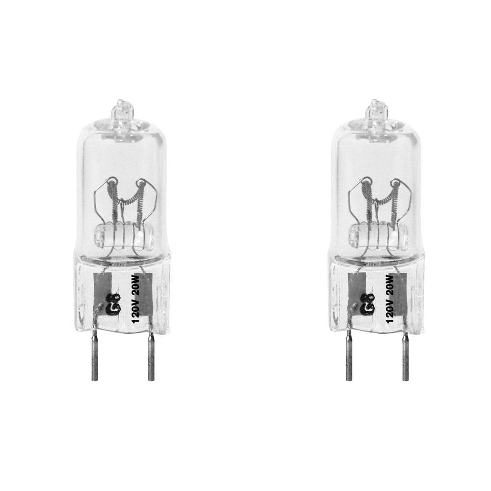 20-Watt Bright White (3000K) T4 G8 Bi-Pin Base Dimmable Xenon Halogen Light Bulb (2-Pack)