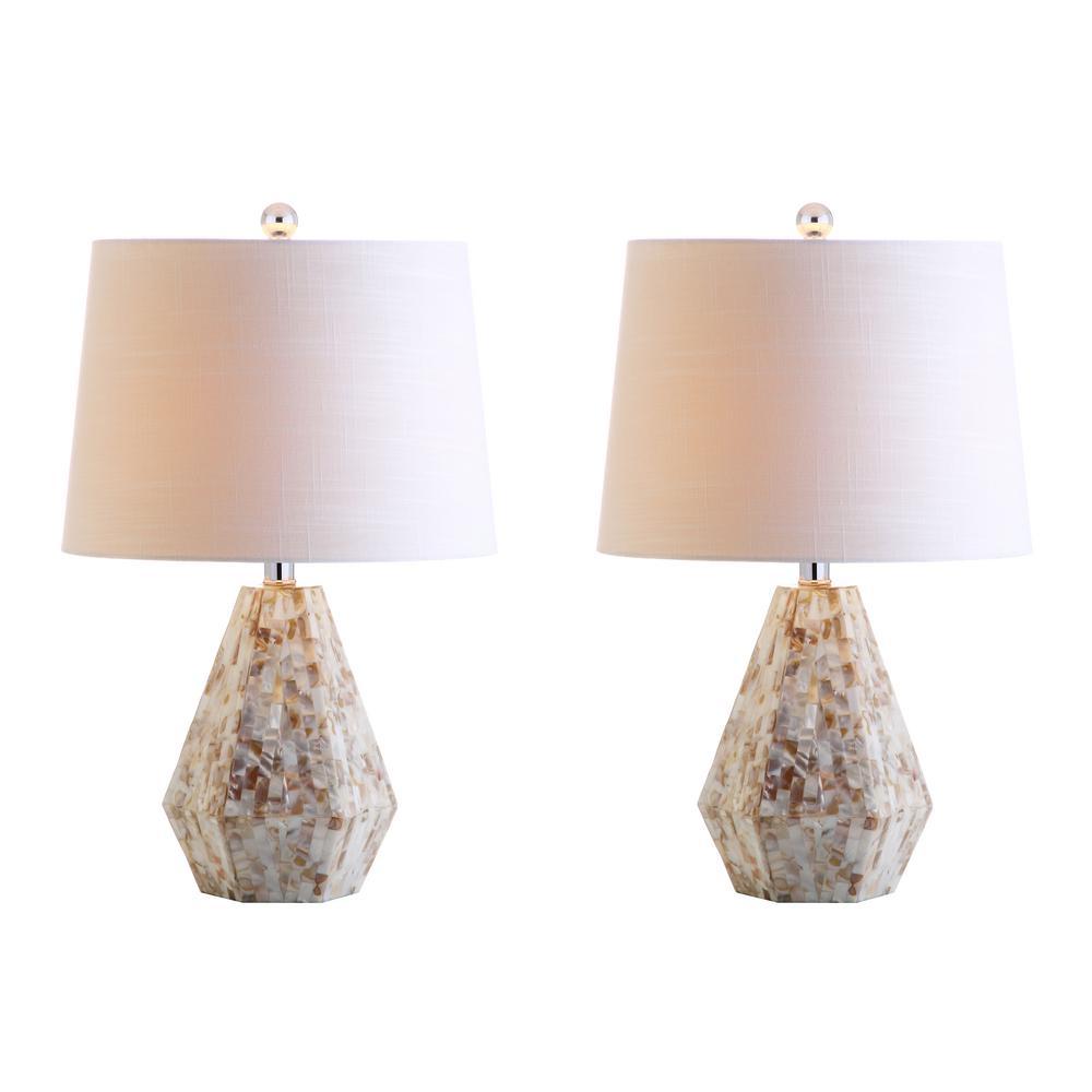 Natural Ivory Seashell Table Lamp (Set Of 2)