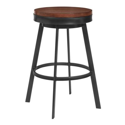 Topeka 25 in. Walnut Barstool