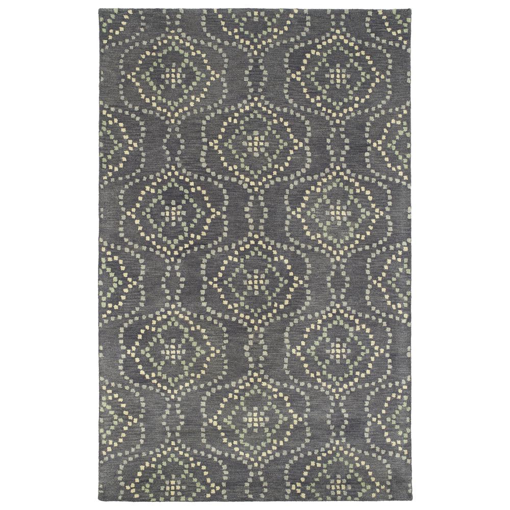 KALEEN RUG CO. Art Tiles Slate (Grey) 2 ft. x 3 ft. Area Rug