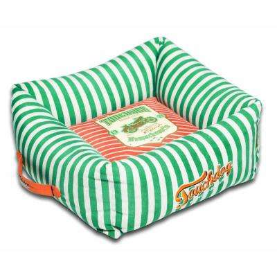 Large Spearmint Green and Orange Bed