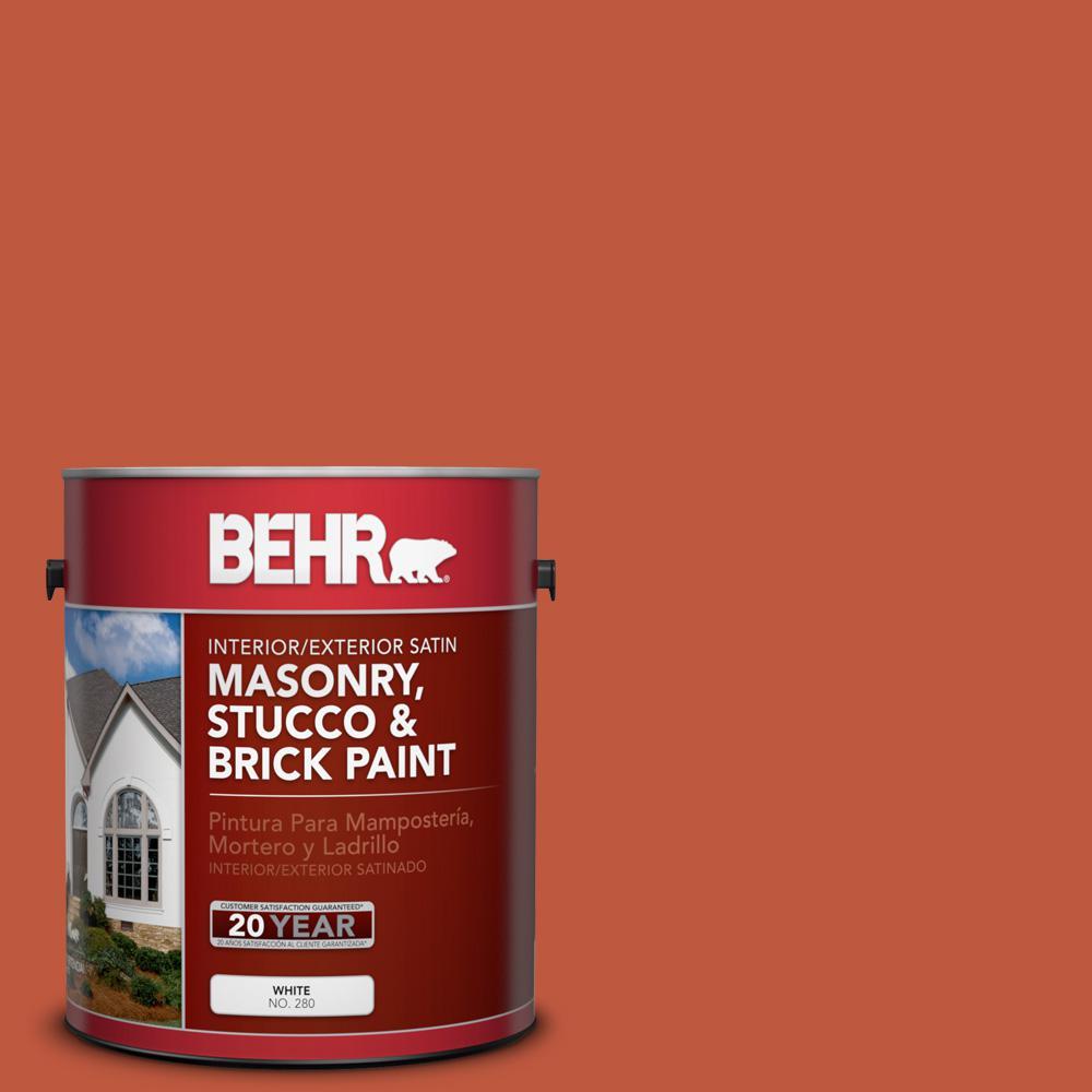 1 gal. #M180-7 Deep Fire Satin Interior/Exterior Masonry, Stucco and Brick Paint