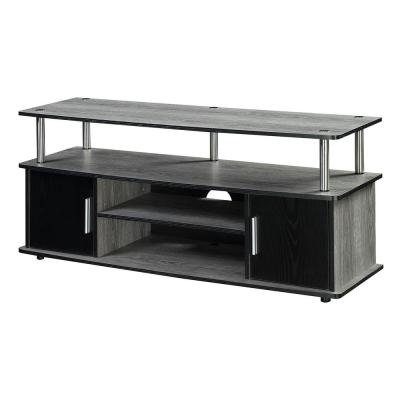 Designs2Go Monterey Weathered Gray and Black TV Stand
