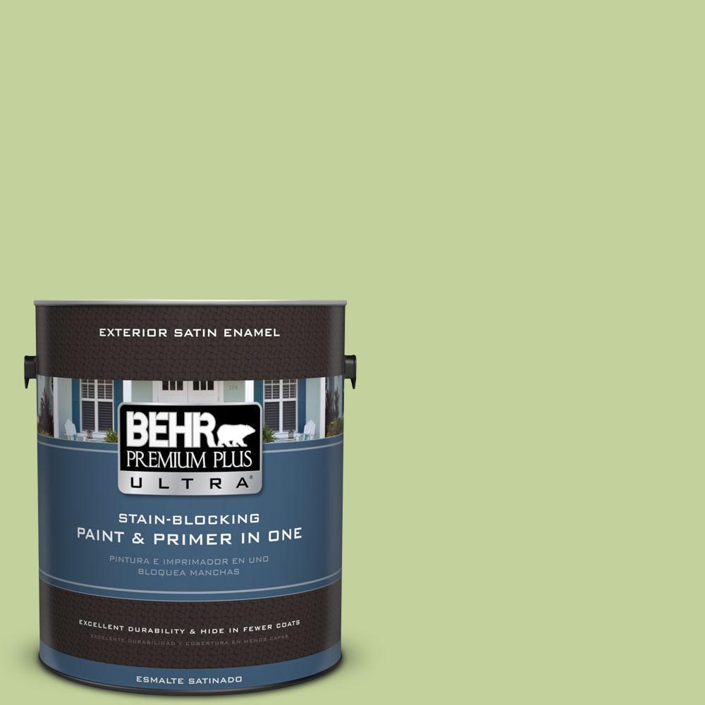 BEHR Premium Plus Ultra 1-gal. #P370-4 Cricket Field Satin Enamel Exterior Paint