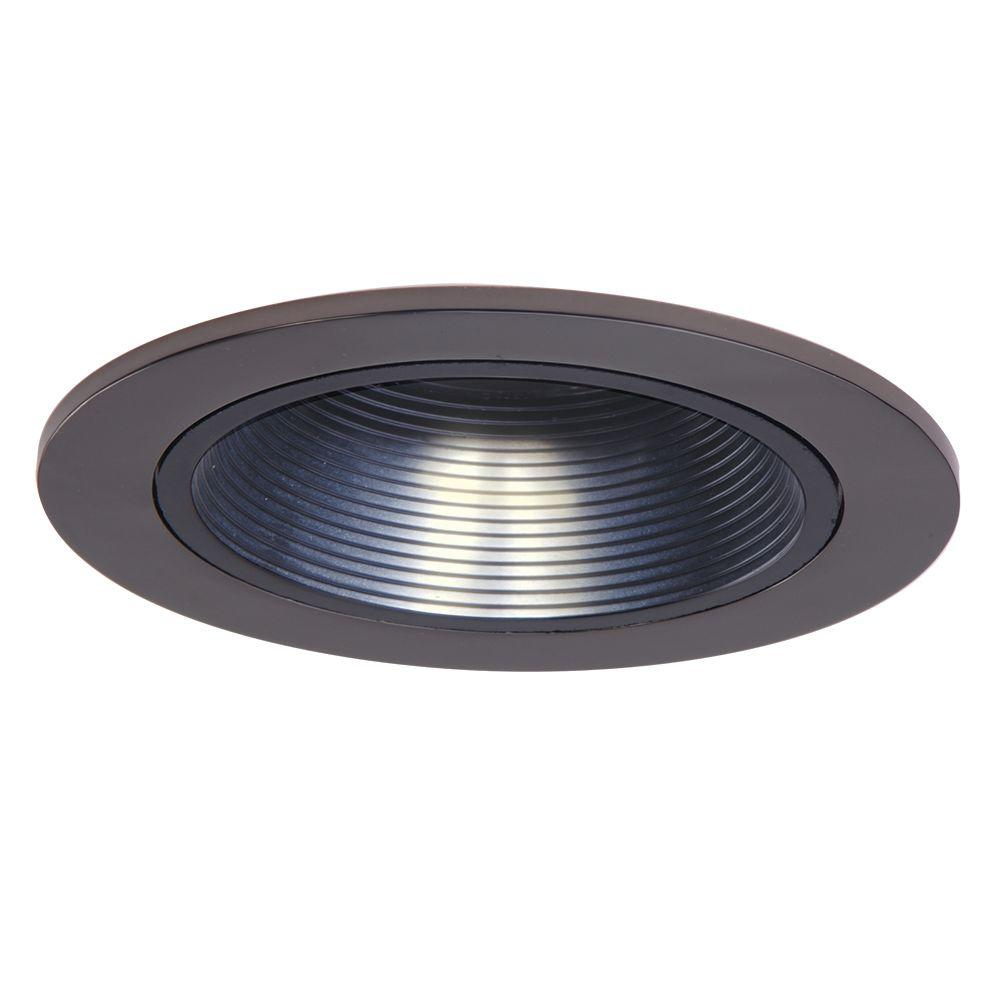 Halo Low Voltage 4 In Tuscan Bronze Recessed Ceiling Light Trim With Black Coilex Baffle