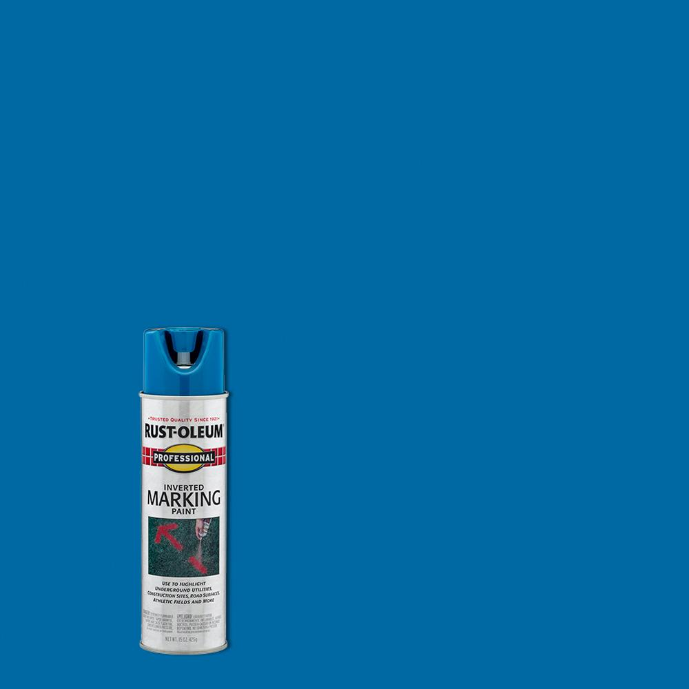 Rust-Oleum 15 oz. Caution Blue Inverted Marking Spray Paint