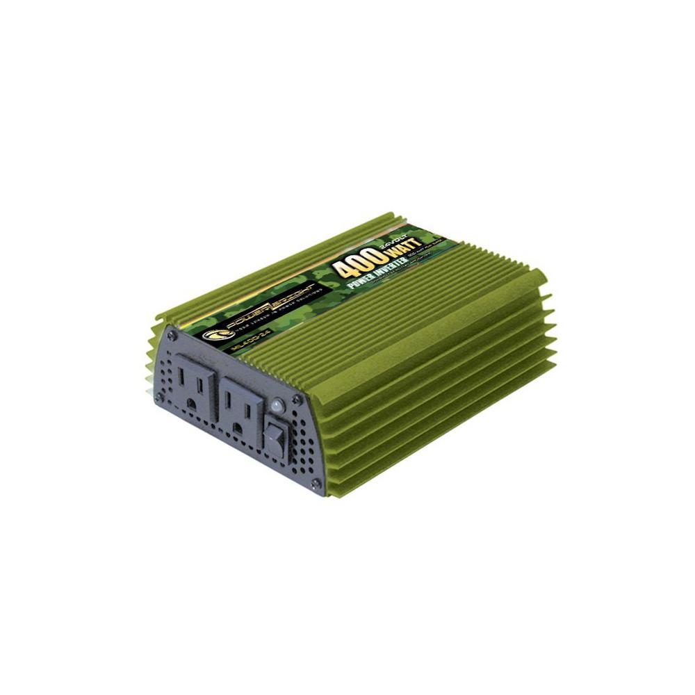 400-Watts 24-Volt DC to 110-Volt AC Power Inverter