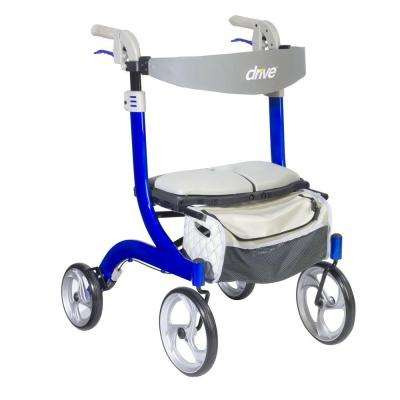 Nitro DLX Euro Style Walker Rollator in Sleek Blue
