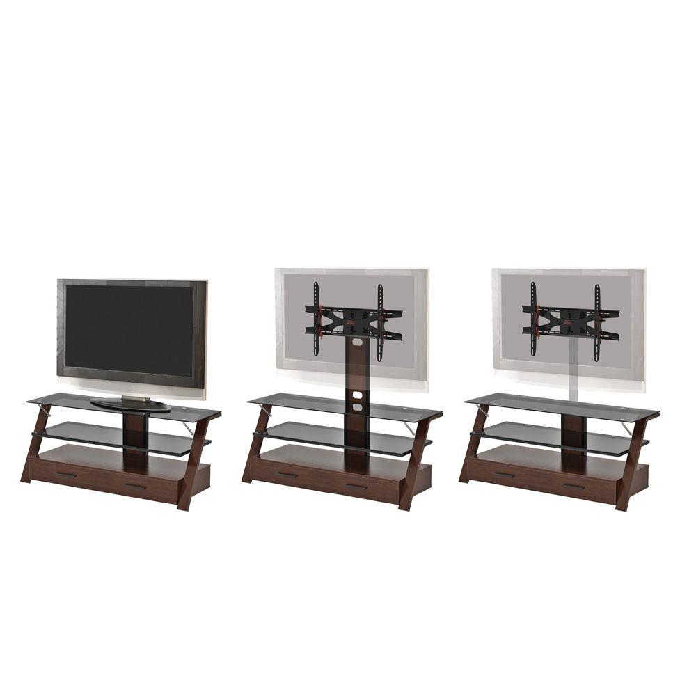 Z-Line Designs Cherry Carlisle Flat Panel 3-in-1 Television Mount System-DISCONTINUED