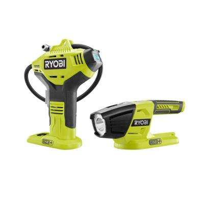 18-Volt ONE+ Lithium-Ion Cordless High Pressure Inflator with Digital Gauge with LED Light (Tools-Only)