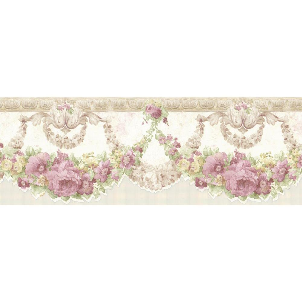 Mirage Marianne Light Blue Floral Bough Wallpaper Border 992b07569